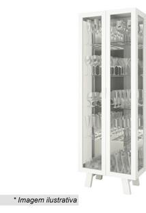 Cristaleira- Incolor & Branca- 182X63,4X33Cm- Tetecnomobili