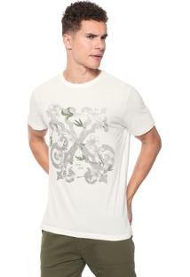 Camiseta John John Flower Logo Off-White