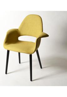 Cadeira Organic Tecido Sintético Pu Fx 01 Preto Vi 5000