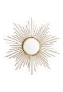 Espelho Decorativo Flex 50 X 50 Cm Dourado