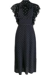 Karl Lagerfeld Vestido Com Detalhe De Laço E Poás - Preto