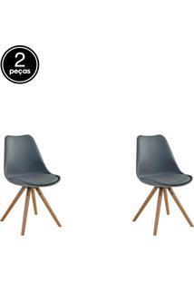 Kit 02 Cadeiras Luisa Cinza Rivatti
