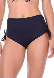 Calcinha Summer Soul Hot Pants Com Amarração Preto