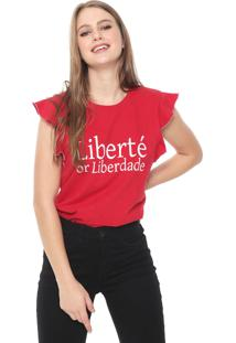 Camiseta Triton Lettering Vermelha