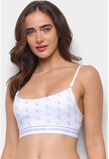 Top Calvin Klein Estampado - Feminino-Branco