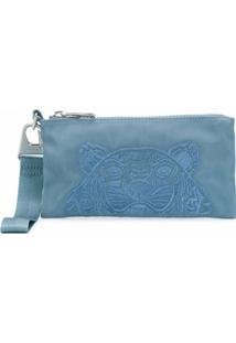 Kenzo Carteira Com Estampa De Tigre - Azul