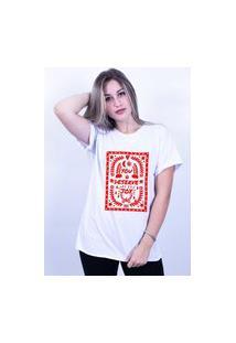 Camiseta Corte A Fio Bilhan You Deserve Joy Gde Branca