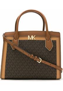 Michael Michael Kors Bolsa Tote Montgomery Com Logo - Marrom