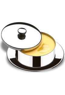 Manteigueira Redonda Com Pires - Atina 130 G - Brinox