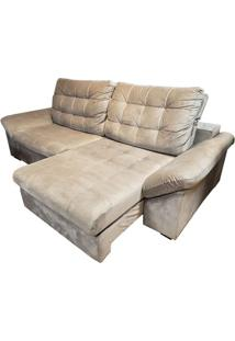 Sofa Benedict Com 2 Lugares Assento Veludo Cinza Claro Base Madeira - 56009 Sun House