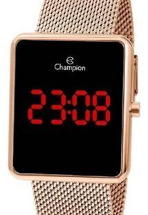 Relógio Champion Digital Ch40080P Feminino - Feminino-Rose Gold