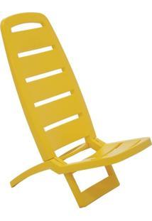 Cadeira Dobrável Guarujá Basic Amarela