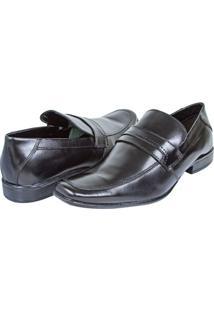 Sapato Social De Couro Masculino Preto Upper - 38
