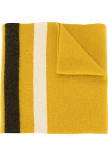 Margaret Howell Cachecol De Lã Virgem Com Listras Contrastantes - Amarelo