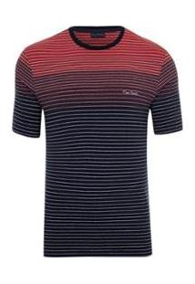 Camiseta Pierre Cardin Lycra Masculina - Masculino-Marinho