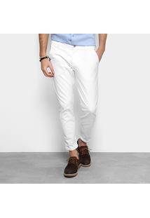 Calça Cropped Colcci Masculina - Masculino-Branco
