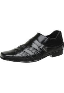 Sapato Social High Class Bico Quadrado Preto