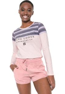 Camiseta Hang Loose Stripes Live Rosa