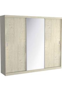 Guarda Roupa 03 Portas De Correr C/ 1 Espelho 1905E1 Marfim Areia Foscarini