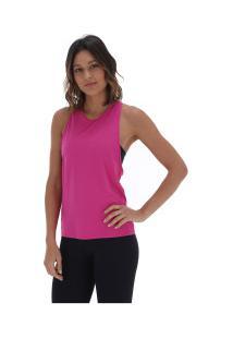 Camiseta Regata Memo Nadador Elástico - Feminina - Rosa Escuro