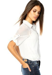 Camisa Mooncity Pregas Branca