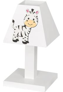 Abajur Dã´Da Baby Zebra Listrada Mdf - Branco - Menina - Dafiti