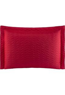 Porta Travesseiros Microfibra - Vermelho Familie Enxovais