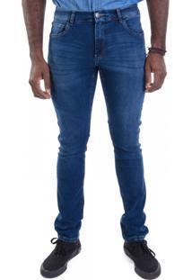 Calça Jeans Skinny Super Power Azul Escuro