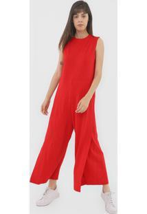 Macacã£O Osklen Pantalona Transpassado Vermelho - Vermelho - Feminino - Algodã£O - Dafiti