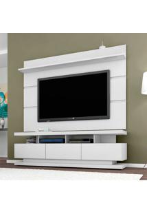 Rack Com Painel Para Tv 55 Polegadas Vivare Branco Acetinado 180 Cm