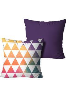 Kit 2 Almofadas Decorativas Triangulos