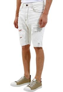 Bermuda John John Rock Polonia 3D Jeans Azul Masculina (Jeans Claro, 42)