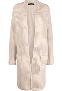 Incentive! Cashmere Open-Front Cashmere Cardi-Coat - Neutro