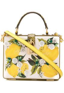 Dolce & Gabbana Hand-Painted Box Bag - Amarelo