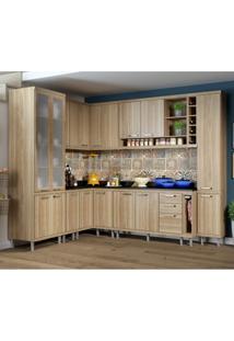 Cozinha Completa Com Balcão Com Tampo 11 Peças 16 Portas Sicília Multimóveis Argila