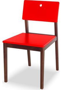 Cadeira Flip Cor Cacau Com Vermelho - 30824 - Sun House