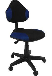 Cadeira De Escritório Secretária Giratória Verona Azul