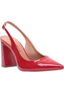 Sapato Chanel - Vermelho - Salto: 9,5Cmcecconello