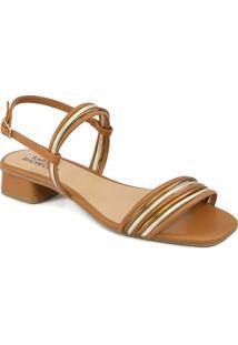 Sandália Salto Baixo Tiras Finas Verão Sapato Show 13042