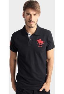 Camisa Polo Rg 518 Piquet Básica Masculina - Masculino-Preto