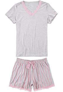 Pijama Malwee 1000069320 P/Xgg B102A-Cinza-Claro