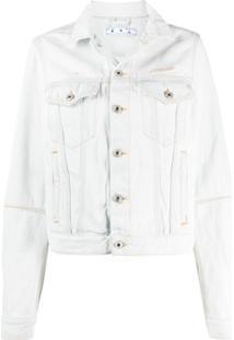 Off-White Jaqueta Jeans - Branco