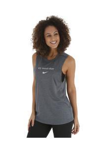 0162dd66dc ... Camiseta Regata Nike Dry Legend Tank Sweat - Feminina - Cinza Escuro