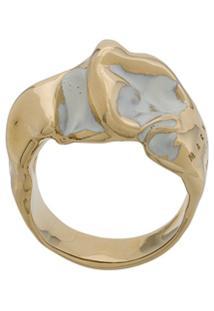 Marni Anel Oversized Texturizado - Dourado
