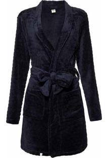 Robe Feminino Em Fleecê Com Amarração Frontal