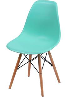 Cadeira Eames Dkr C/ Base De Madeira Or-1102B – Or Design - Verde Tifanny