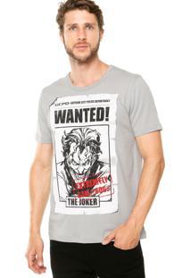 Camiseta Fashion Comics Coringa Cinza