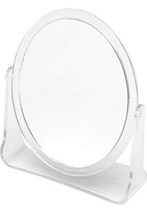 Espelho Dupla Face Com Suporte De Plástico 16 X 19, 8 Cm, Lyor, Transparente, Único