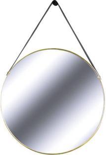Espelho Redis Moldura Banhada Cor Dourado 75 Cm (Larg) - 43551 - Sun House