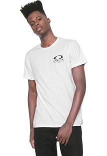 Camiseta Oakley Mod Ellipse Skull Stacke Branca